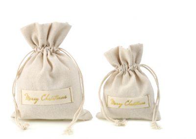 Cotton Christmas flatbag