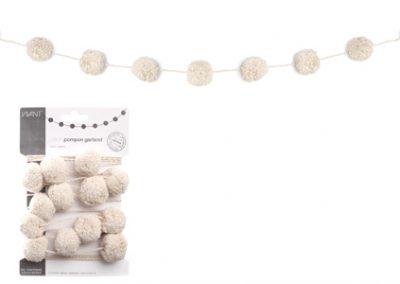 Cotton pompon garland