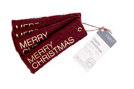 Merry Christmas paper tags