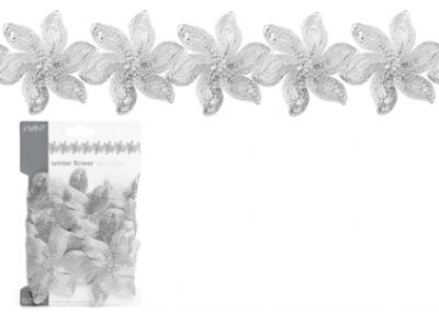 Winter flower deco ribbon