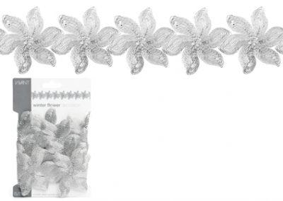 Winter flower deco ribbon