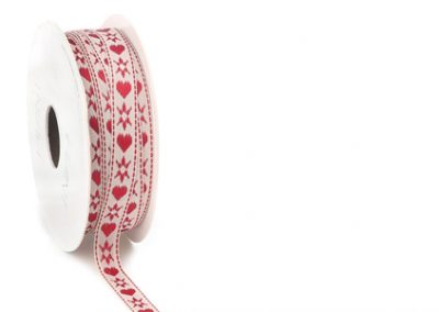 Folky hearts ribbon