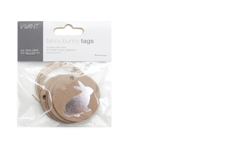Fancy bunny paper tags (rond)