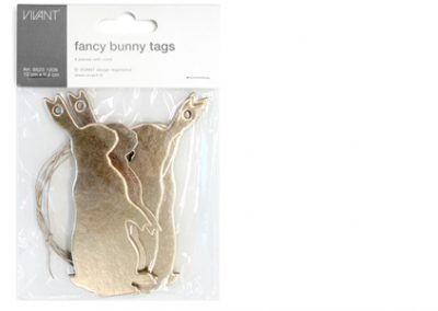 Fancy bunny paper tags
