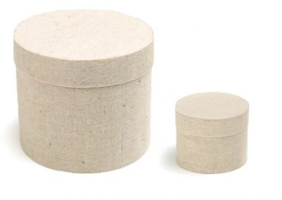Cotton round box