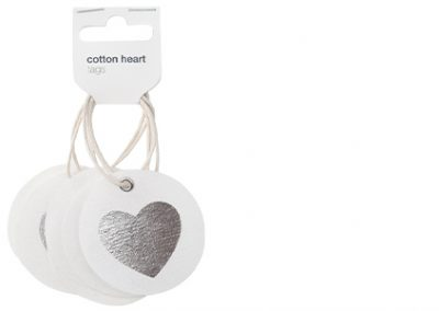 Cotton hearts tags