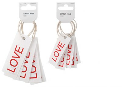 Cotton love tags