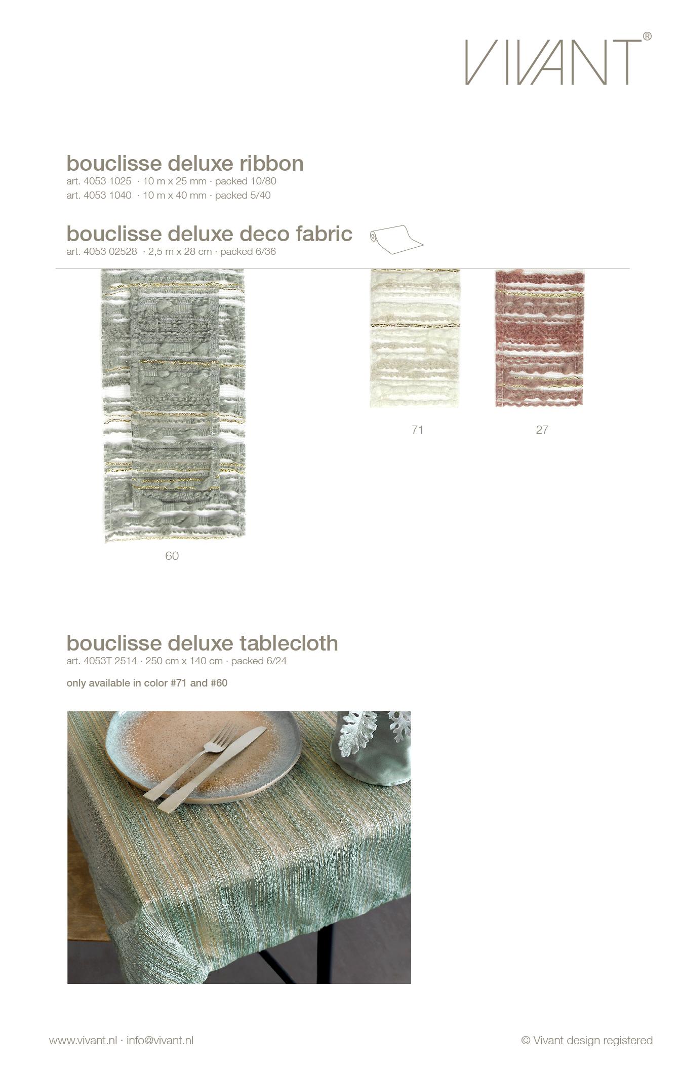 lint met lijnen van boucle garen, organza en subtiele lurex draad voor de detailhandel in 2 kleuren en 2 maten