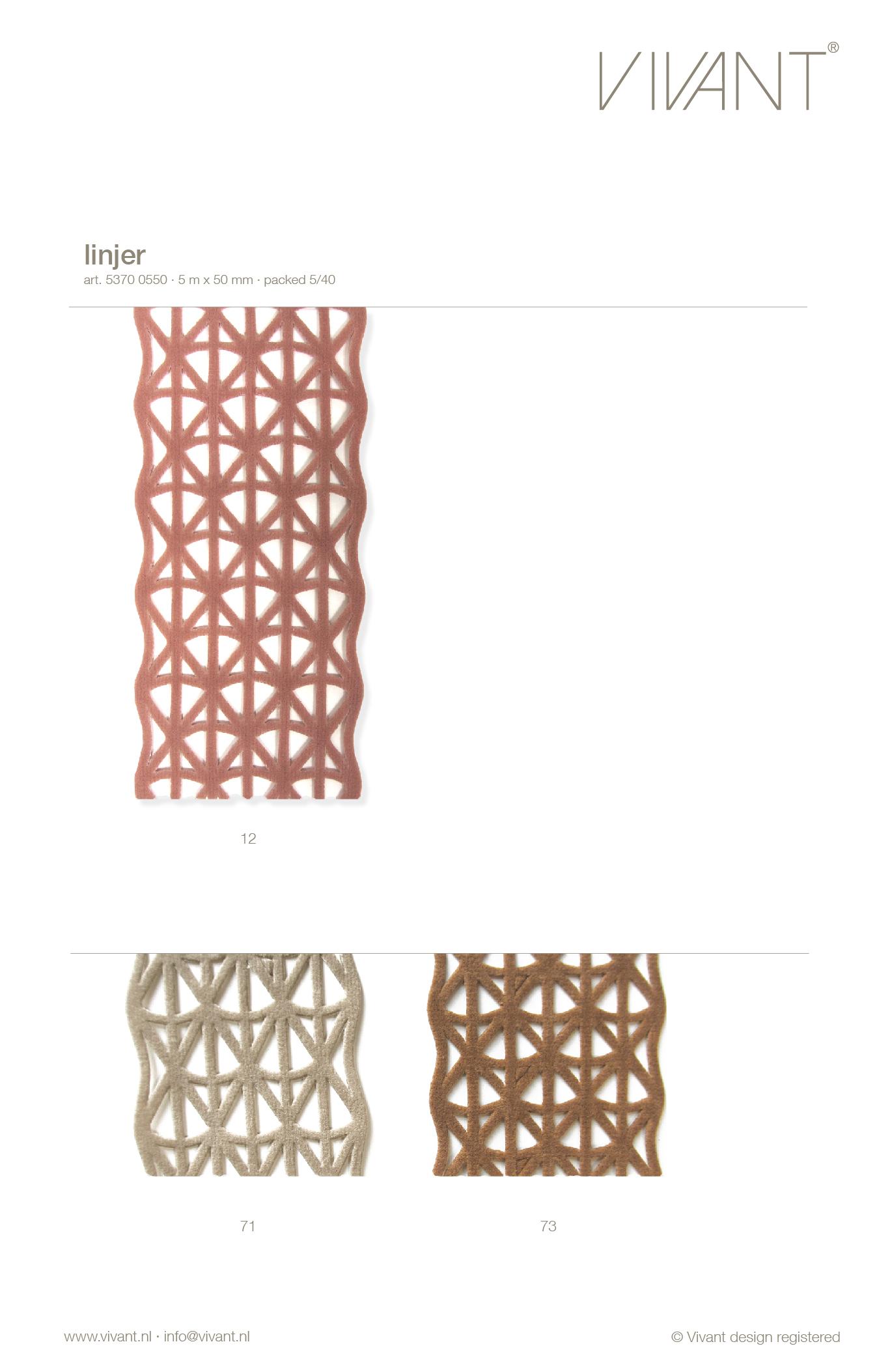 oud roze mesh lint Linjer uitgestanst uit velvet stof. Een trendy mesh met grafisch patroon uit de lintencollectie van Vivant.