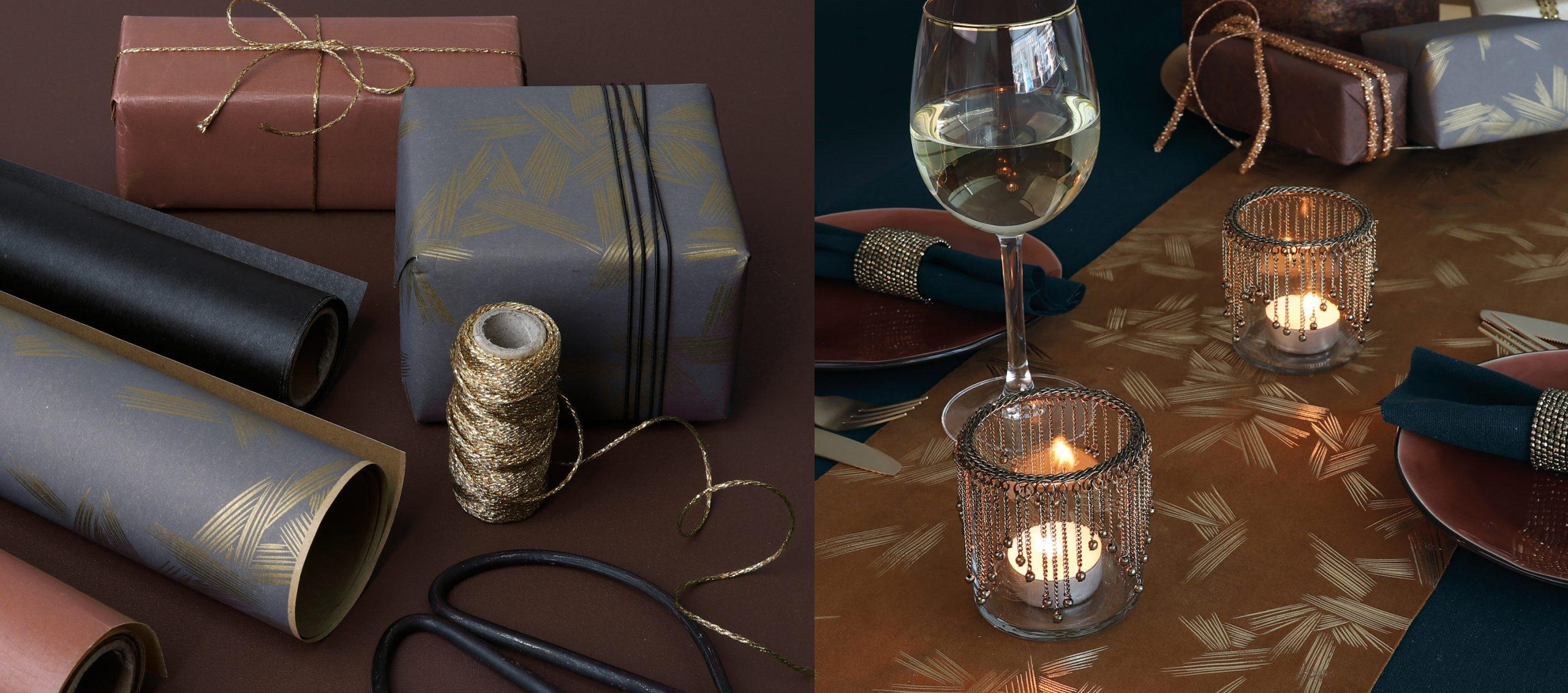 Festiva tafelloper + geschenkpapier