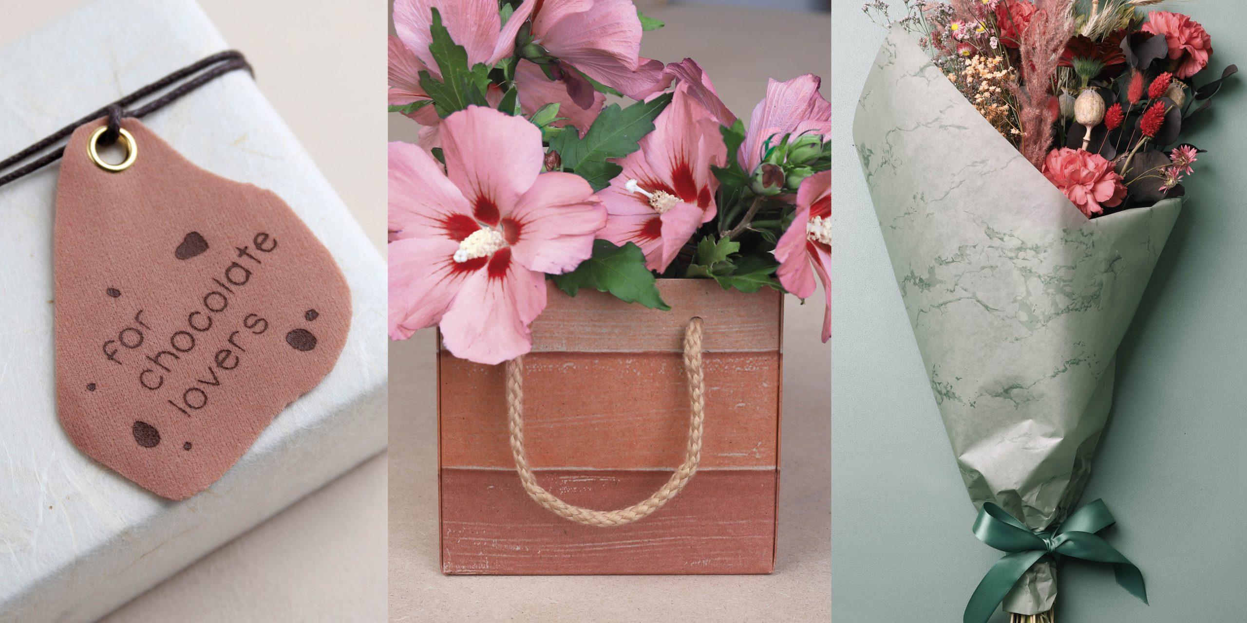 Bloemverpakkingen en chocoladeverpakkingen voor valentijn