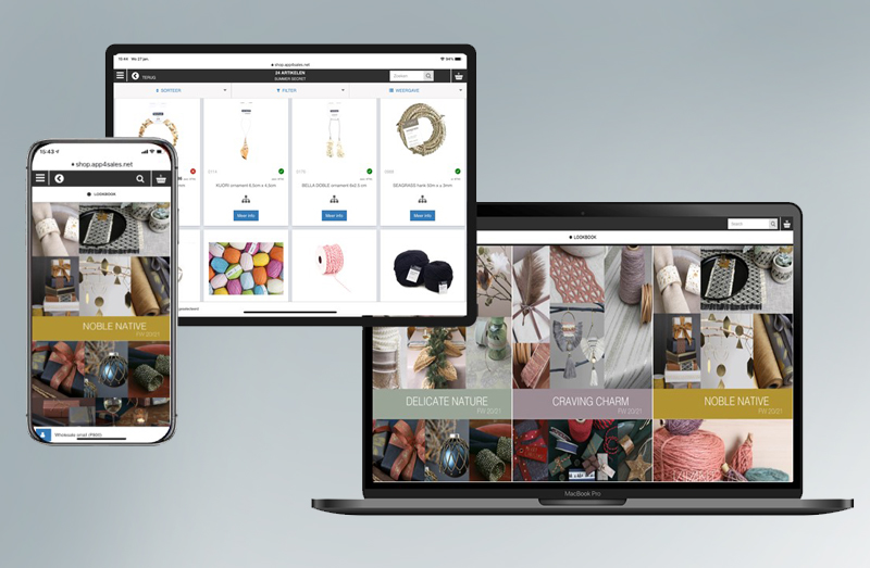 Vivant portal for sales on mobile and desktop