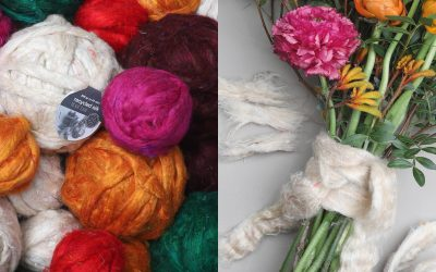 DIY | Recycled silk fiber balls
