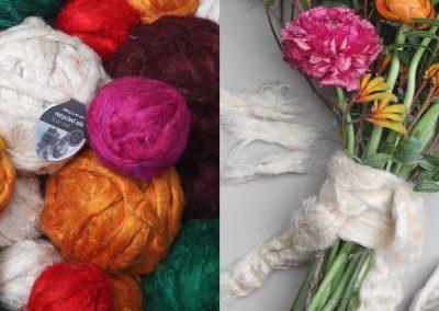 DIY | Recycled silk fiber balls