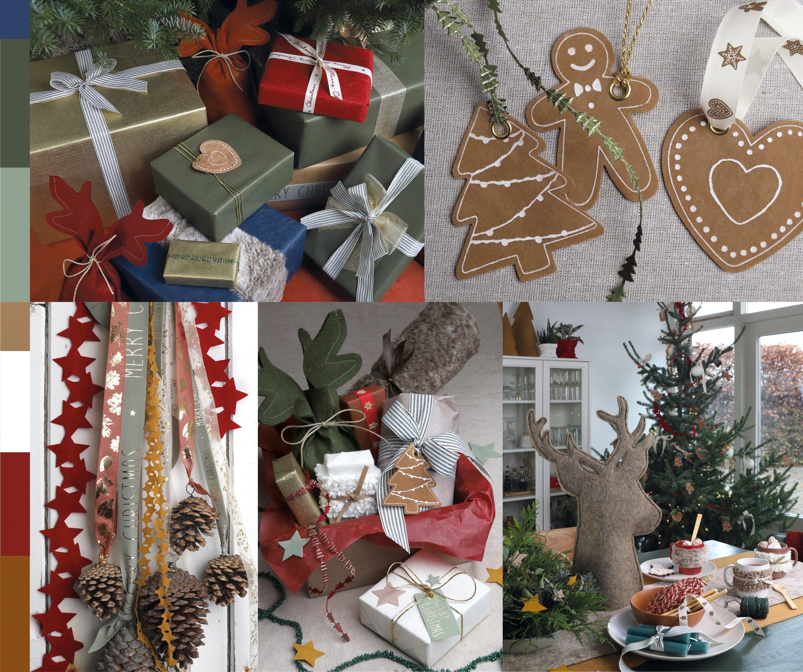 Happy holidays thema met gingerbread tags, lint en rendier zakjes